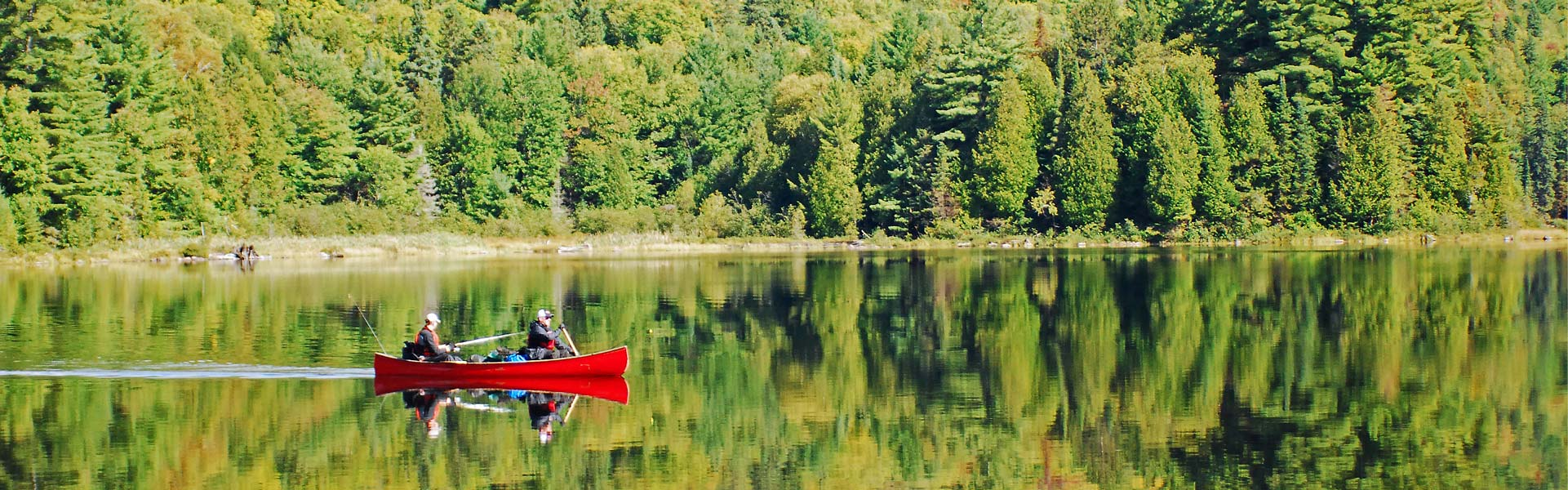 Canoeing and fishing near Madawaska